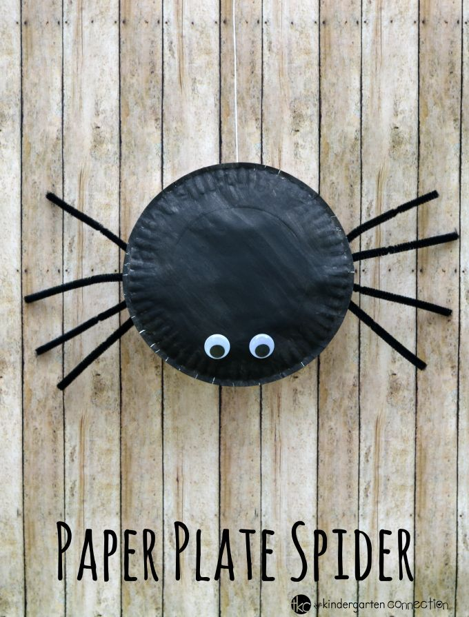 Paper Plate Spider Craft Spider, Easy and Craft - halloween decorations to make at home for kids