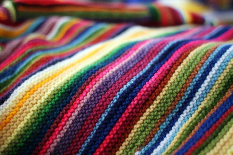How to count rows and stitches in garter stitch with