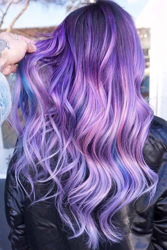 49 Tempting And Attractive Purple Hair Looks Hair Cool Pinterest