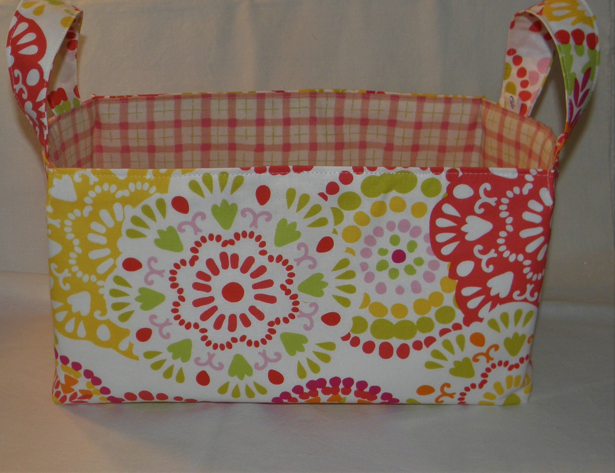 Fabric Basket with Handles, Stylish Storage Basket, Reuseable Gift Basket, Baby or Bridal Shower, Mother's Day, Gift for Her, Ready to Ship
