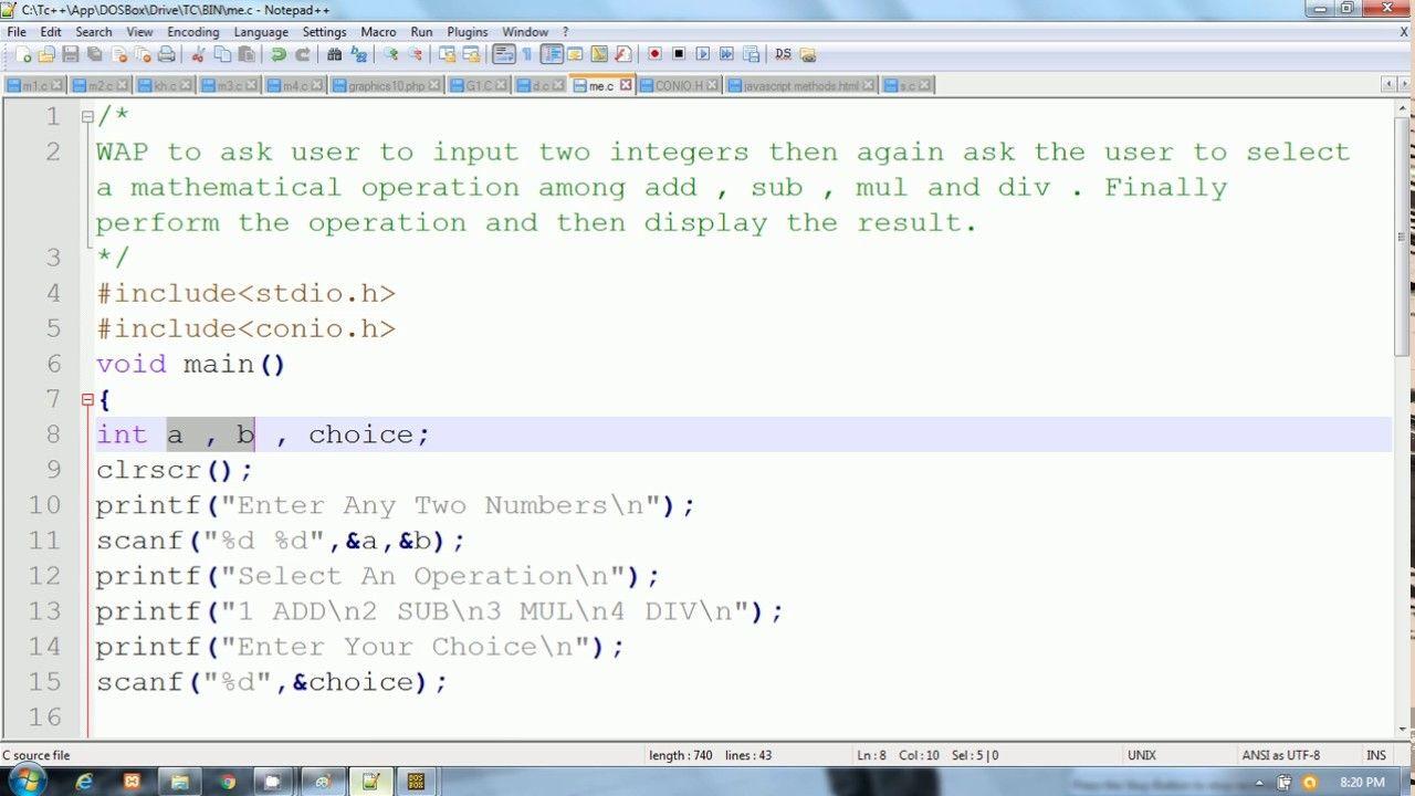 c language example programs pdf