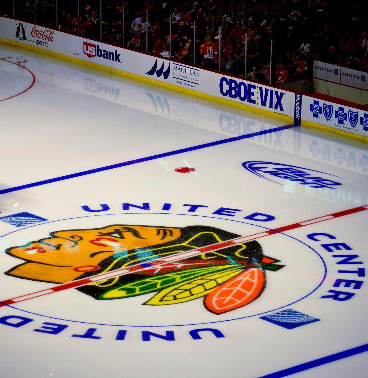 Center Ice At The United Center Myke Needs To Go Here Chicago Sports Teams Blackhawks Hockey Chicago Blackhawks
