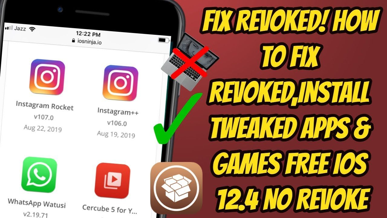 Fix Revoked! How To Fix Revoked,Install Tweaked Apps