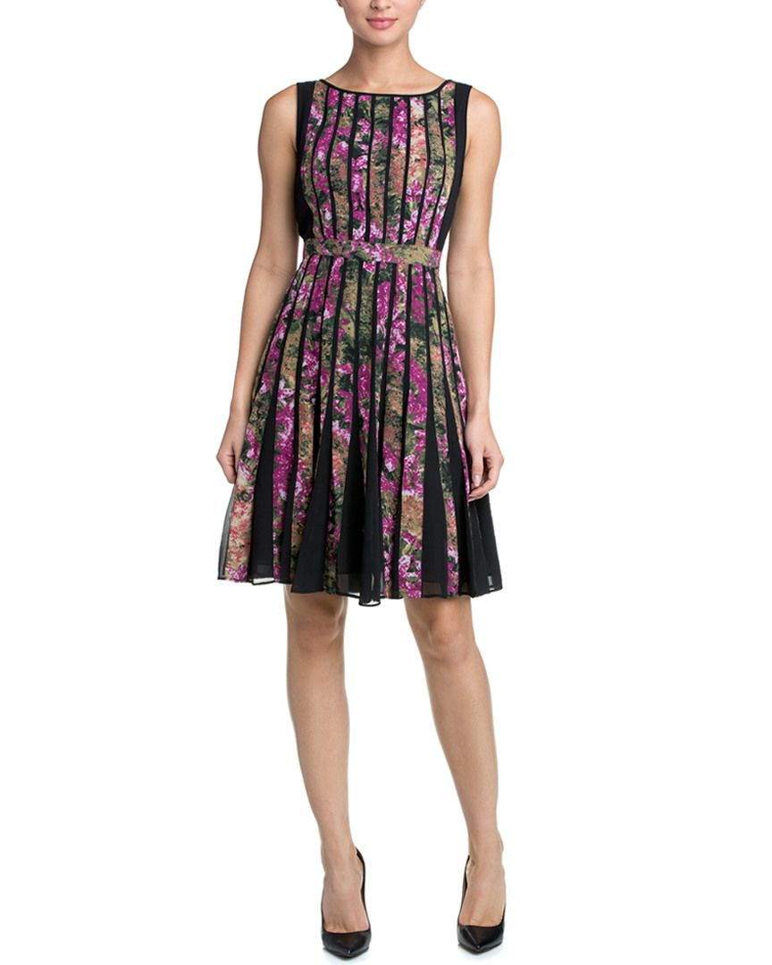 Adrianna Papell Fuchsia Pink Floral Print Fit & Flare Dress is on Rue. Shop it now.
