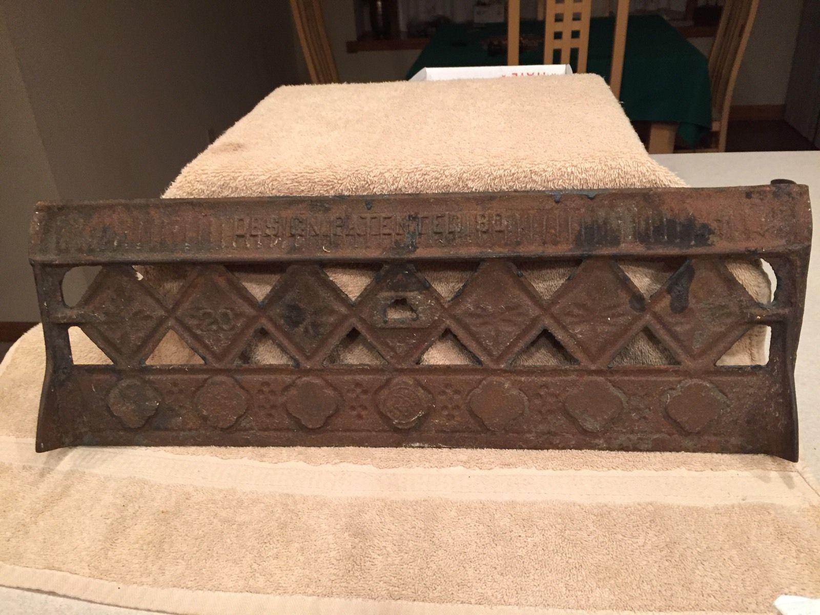 Decorative Grates Registers Victorian Cast Iron Floor Grille 38x19 Heat Grate Register Very