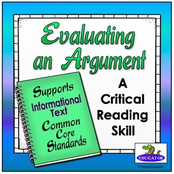 Earth Day Activity - Evaluating an Argument - Supports Common Core