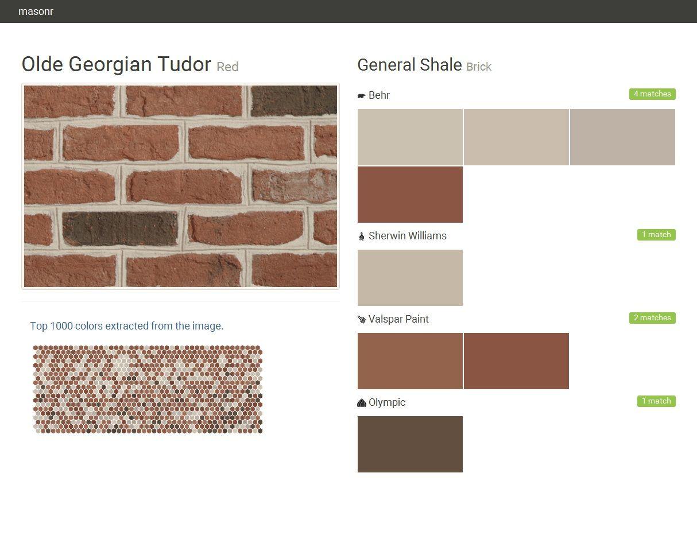Brick General Shale Brick Olde Georgian Tud Red Brick Paint Brick Paint Colors Brick