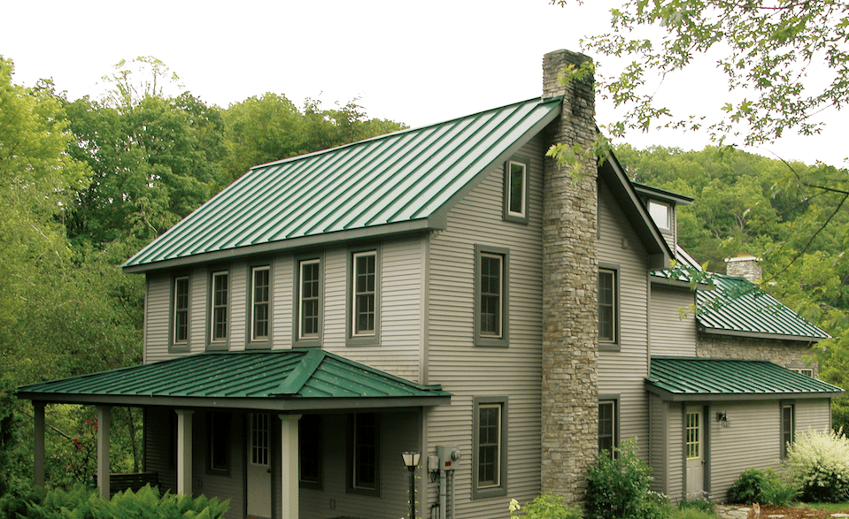 Everlast Roofing Residential Project Gallery Green Roof House Exterior Paint Colors For House House Exterior