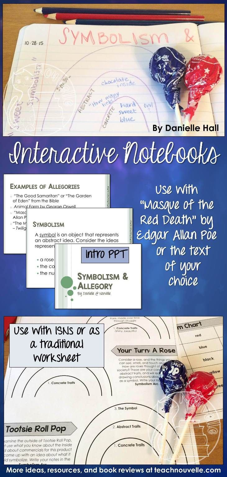 Symbolism and allegory interactive student notebooks worksheets symbolism and allegory buycottarizona