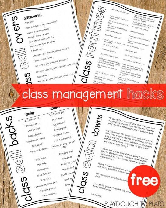 Classroom Management Hacks - Playdough To Plato