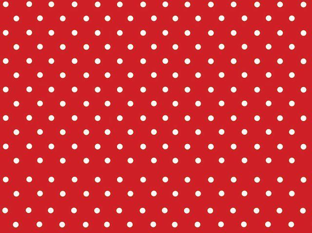red with white polka dots fabric or paper MINIATURE - WALLS AND - dot paper template