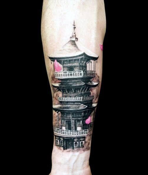 51 Deadliest Predator Tattoo Designs Ideas For Men: 60 Pagoda Tattoo Designs For Men