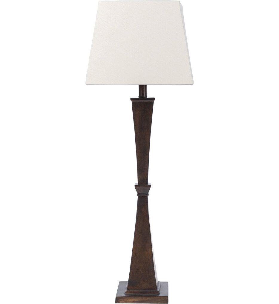 Surya - DEM-001 Demna Dark Brown Painted Composition 35 Inch Table Lamp