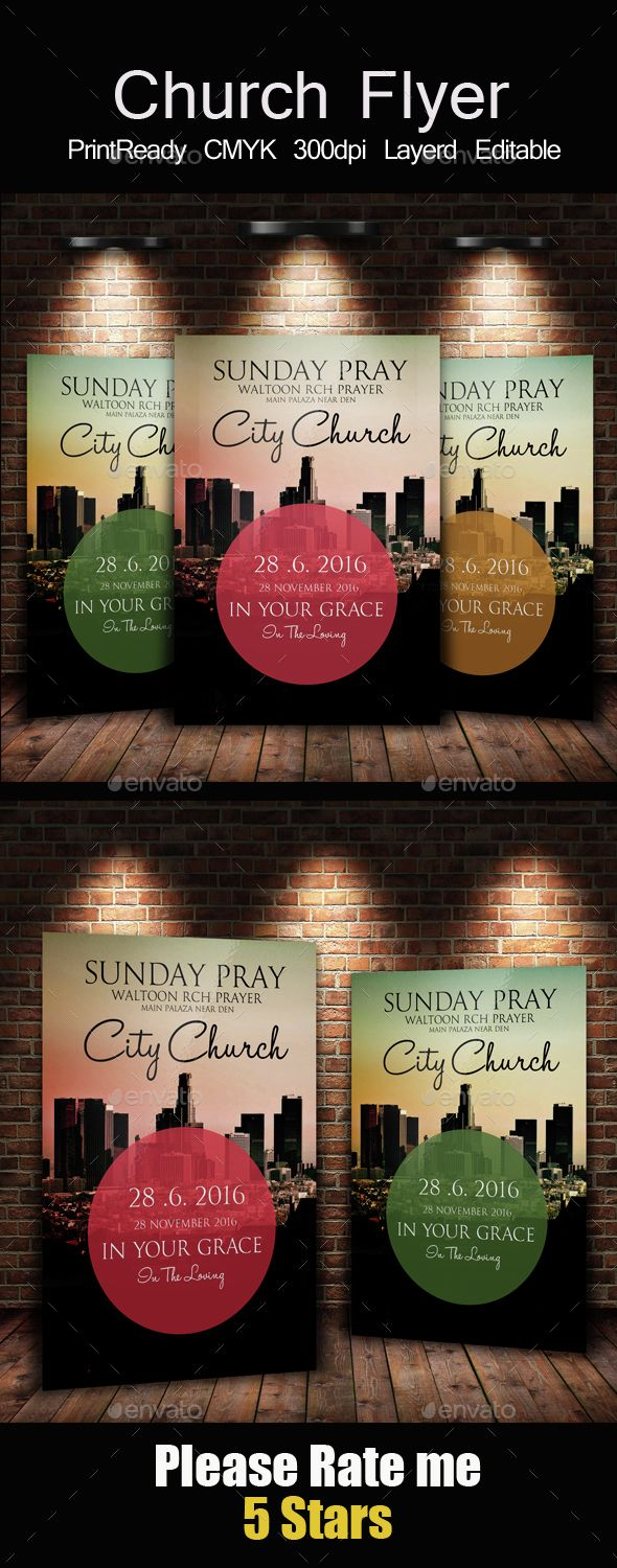 City Revival Church Flyer Flyer Business Flyer Templates Flyer Design Templates