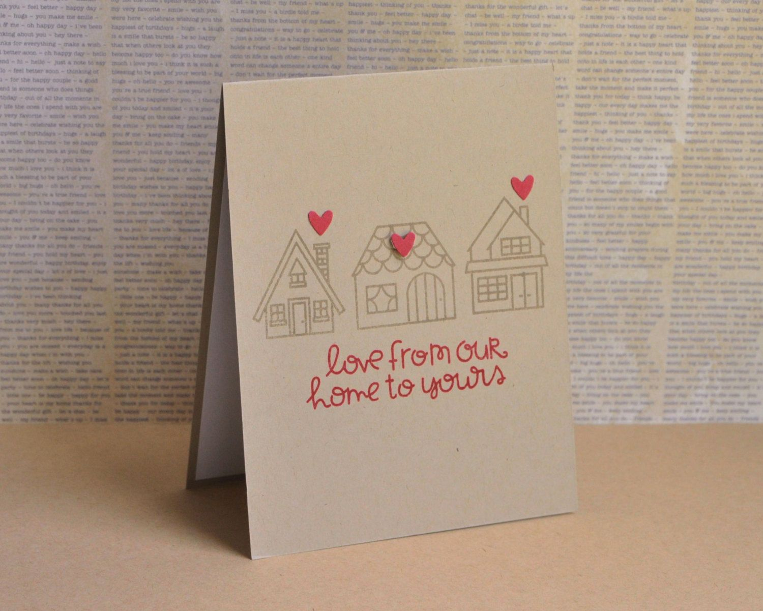 Hand stamped new home greeting card housewarming card new home hand stamped new home greeting card housewarming card new home card happy new m4hsunfo