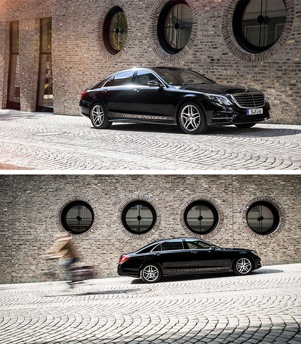 Outstanding performance, intelligent drive: The Mercedes-Benz S 500 e. Photos by Johannes Glöggler (www.johannesgloeggler.de) #MBsocialcar [Mercedes-Benz S 500 e | combined fuel consumption 2.8 l/100km | combined CO₂ emissions: 65 g/km | Power consumption weighted: 13.5 kWh/100 km | http://mb4.me/efficiency_statement]