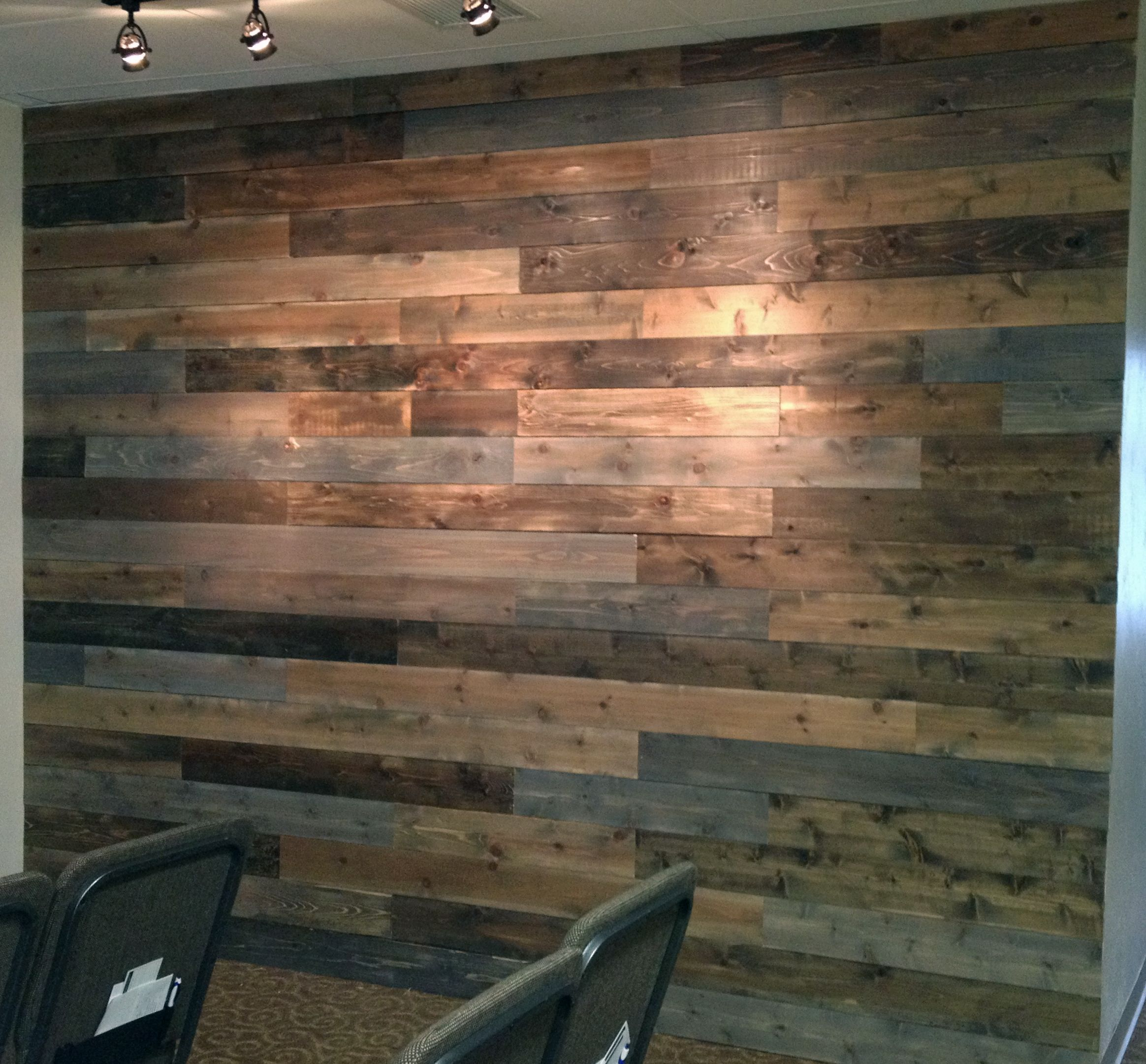 Diy Stained Wood Accent Wall: Wood Wall: Two Ways