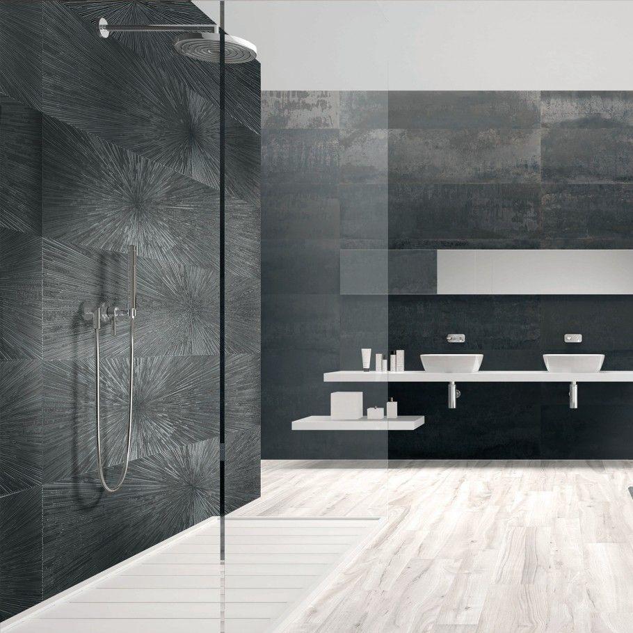12x48 metal look porcelain tile