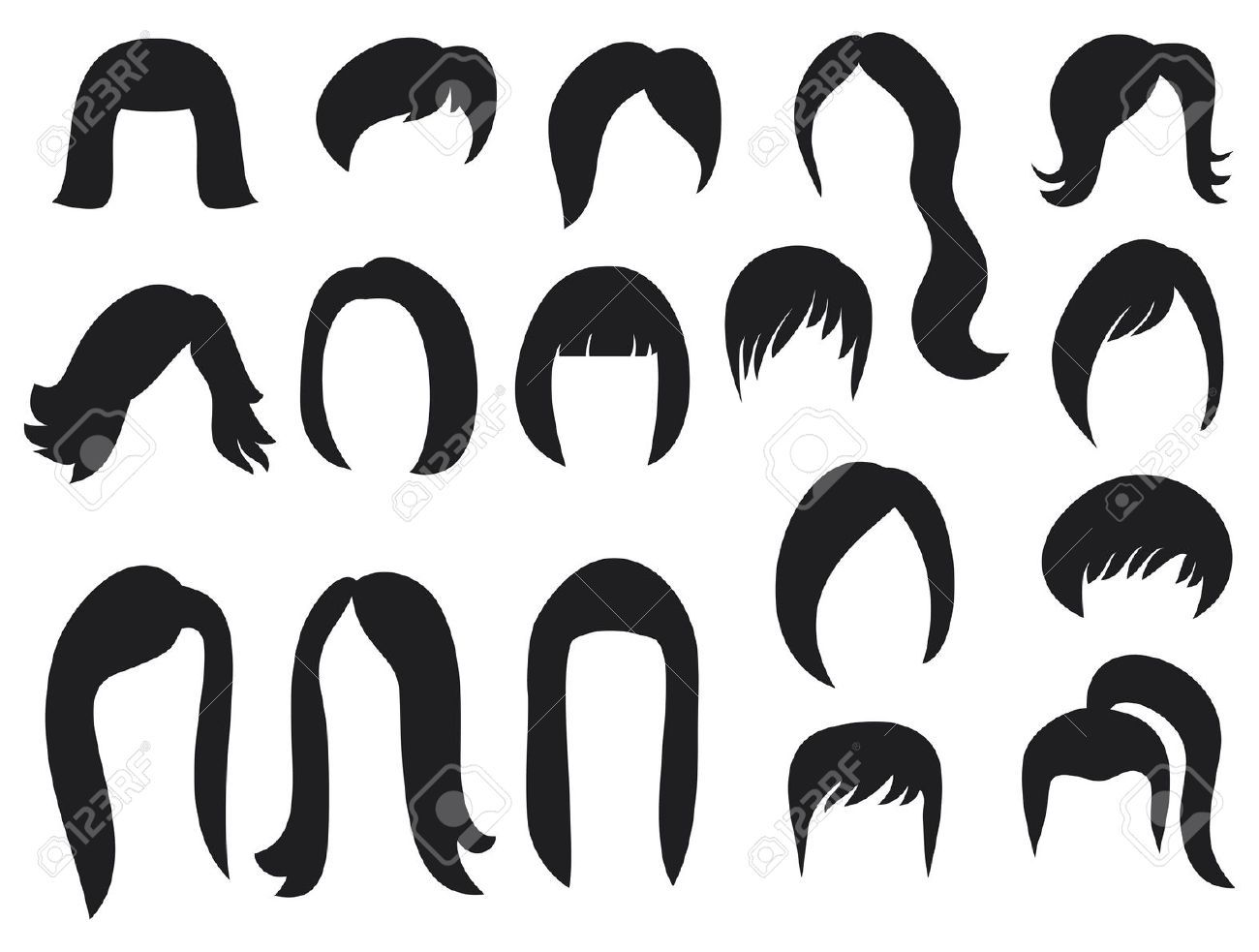 Hairstyle Vector: Big Hair Vector - Google Search