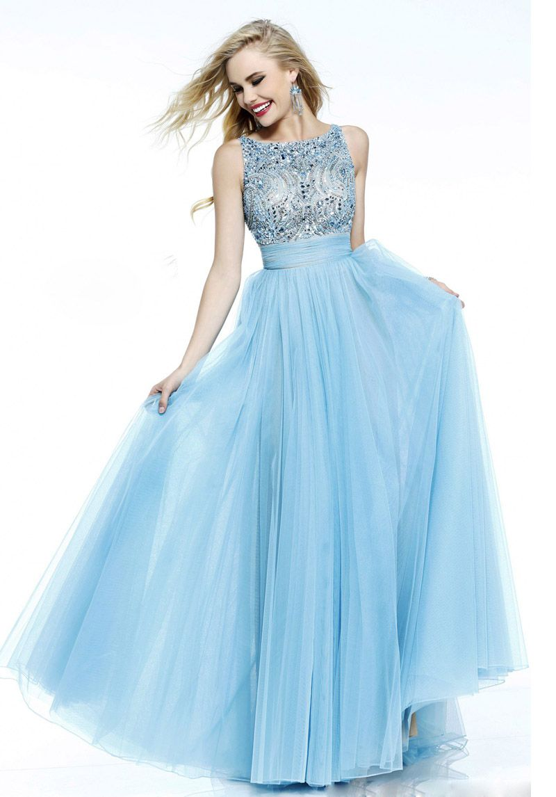 elegant-a-line-beaded-chiffoin-with-bowknot-long-prom-dress ...