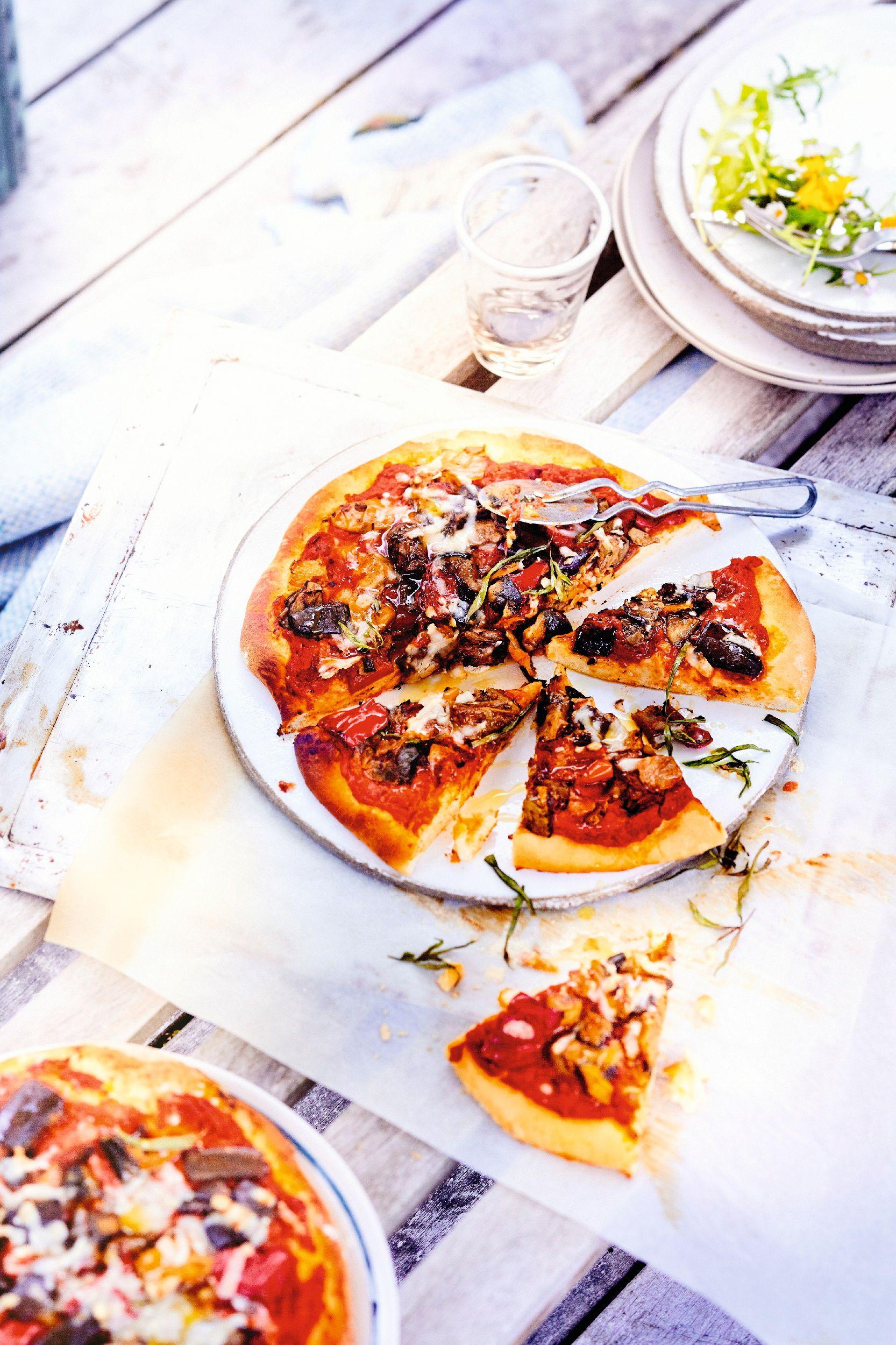 Recette pizza aux l gumes grill s recettes les recettes je cuisine facile hum pinterest - Antipasti legumes grilles ...
