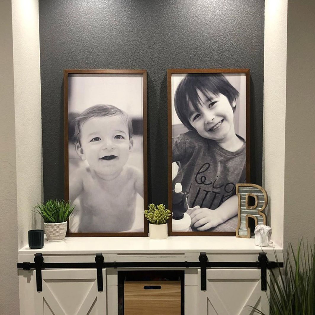 Xl Size Custom Signs From Smallwood Would Love To Get Some Of These Printed With Pictures Of Jameson Smallwood Home Custom Wood Frames Wood Frame Sign
