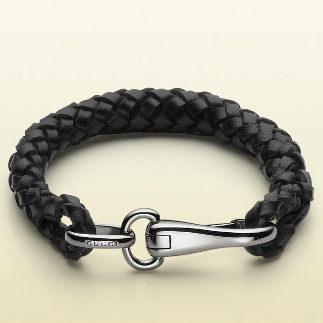 Leather Bracelet with Clasp by Gucci