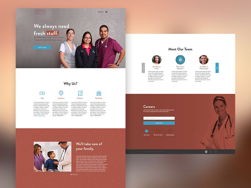 Medical Centre Recruitment Microsite Recruitment Medical Web Design