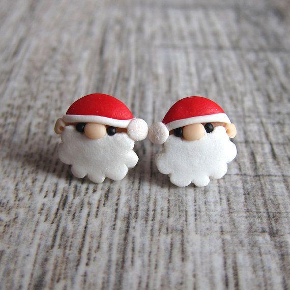 Christmas Jewelry Santa Claus Earrings Funny Earrings