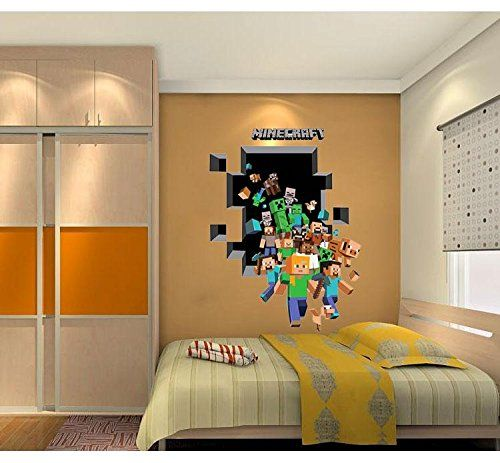 Minecraft Multi Character Wall Decal / Cling / Sticker For