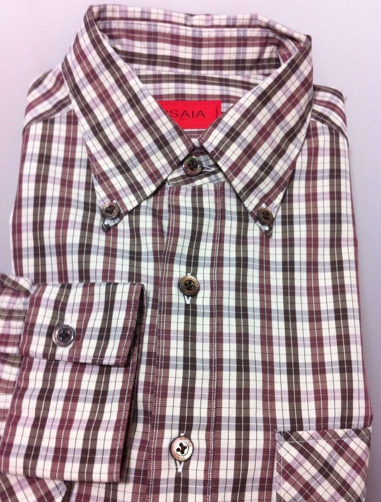 NWT$545 ISAIA Napoli Hand made Fantastic Sport Shirt (M/50/40US fits lovely) #isaia #ButtonFront