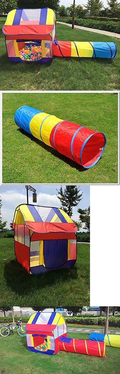 Play Tents 145997 Kids Indoor Playhouse Tent Tunnel Outdoor Play Ball Tent Toddlers Toy Gift & Play Tents 145997: Kids Indoor Playhouse Tent Tunnel Outdoor Play ...