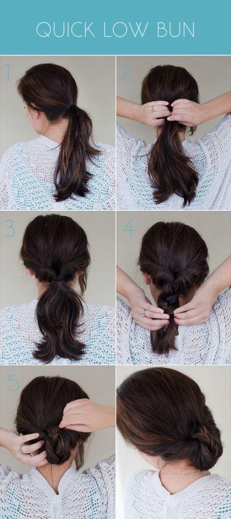 Quick Low Bun Pretty Plain Janes Hair Styles No Heat Hairstyles Stylish Hair