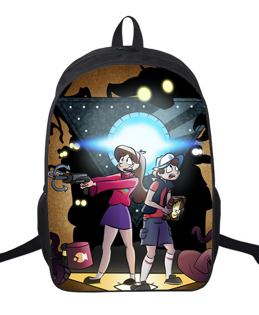 16 Inch Anime Tom and Jerry Nylon Backpack Cartoon School Bag Student Bags  Double Shoulder Boy Girls Schoolbag c88a0057eb