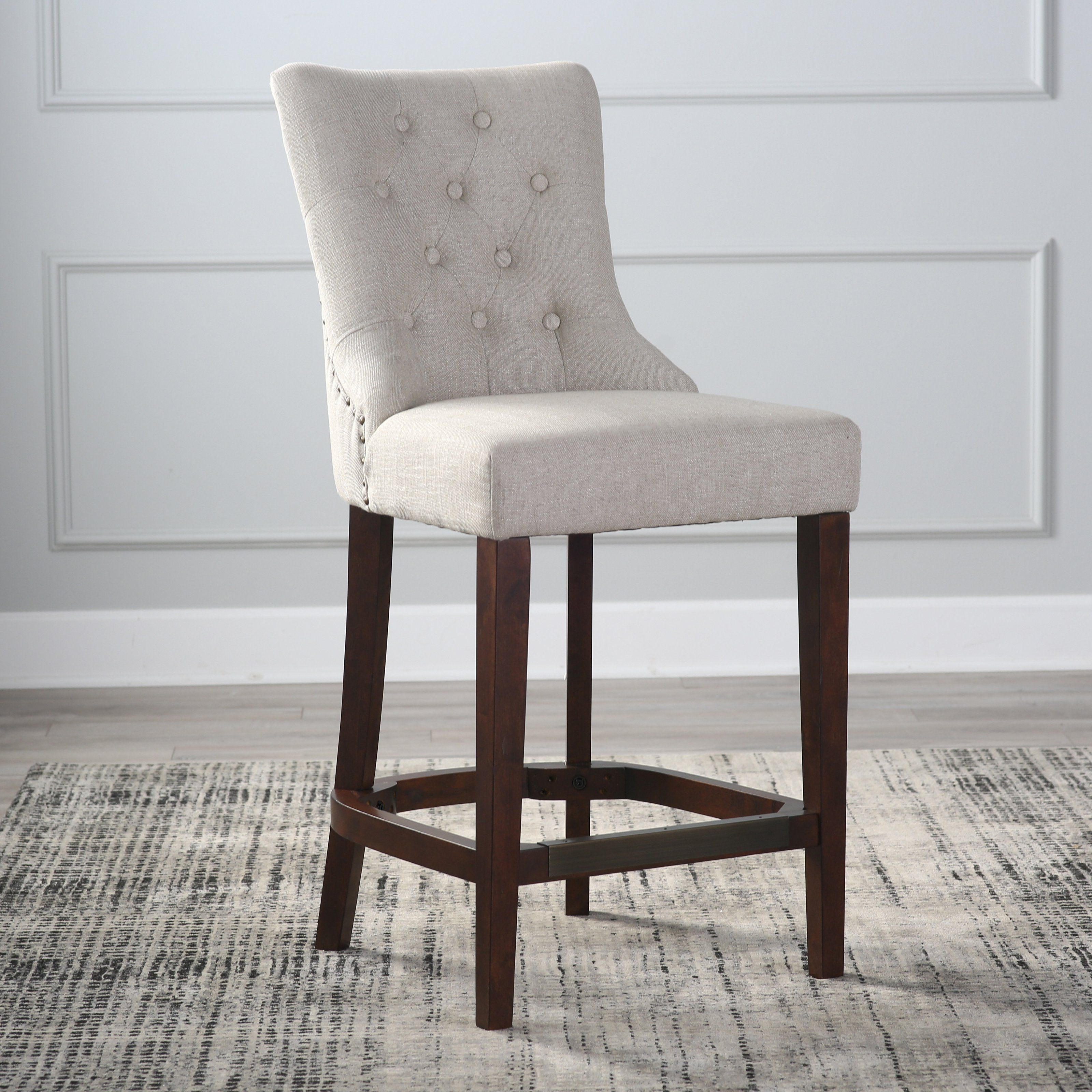 Belham Living Thomas Tufted Tweed Counter Stool From