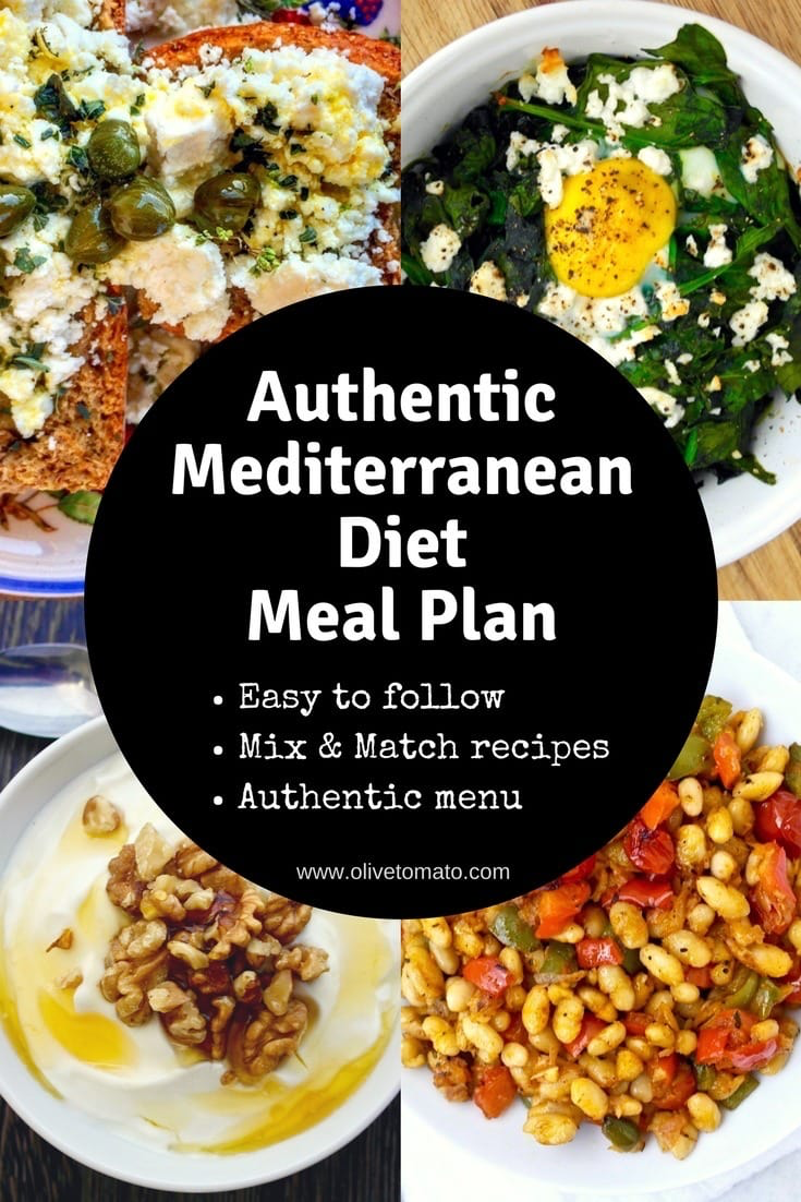 The Authentic Mediterranean Diet Meal Plan and Menu | Olive Tomato