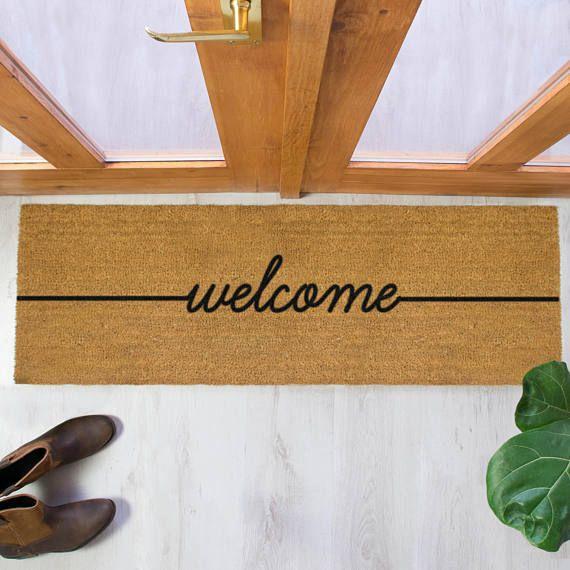 Welcome Double Door Mat 120x40cm Patio Double Door Mat Patio Doormat By Artsy Doormats Door Mat Double Doors Double Doormat