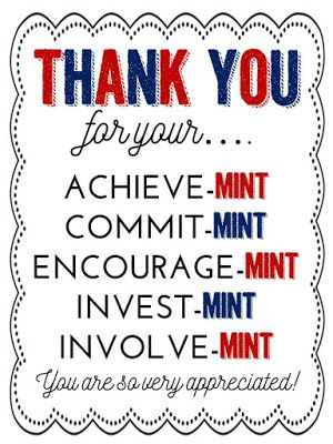 photo relating to Thank You for Your Commit Mint Printable named Pin upon Instructors Appreciation 7 days
