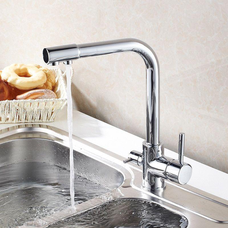 Kcasa Kitchen Faucet Hot Cold Water Purifier Faucet Single Hole