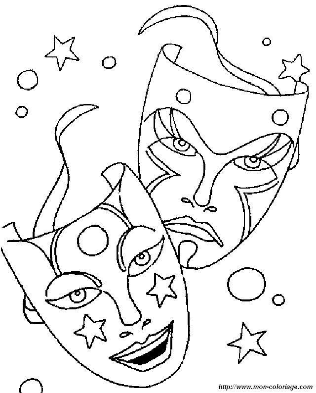 Coloring Carnival Page Mask Ausmalbilder Wenn Du Mal Buch Ausmalen