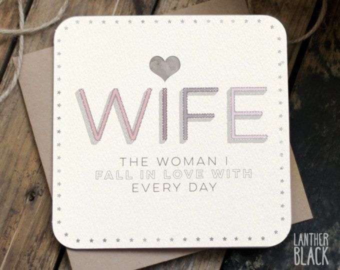 Wife card birthday card wife anniversary card rude card card