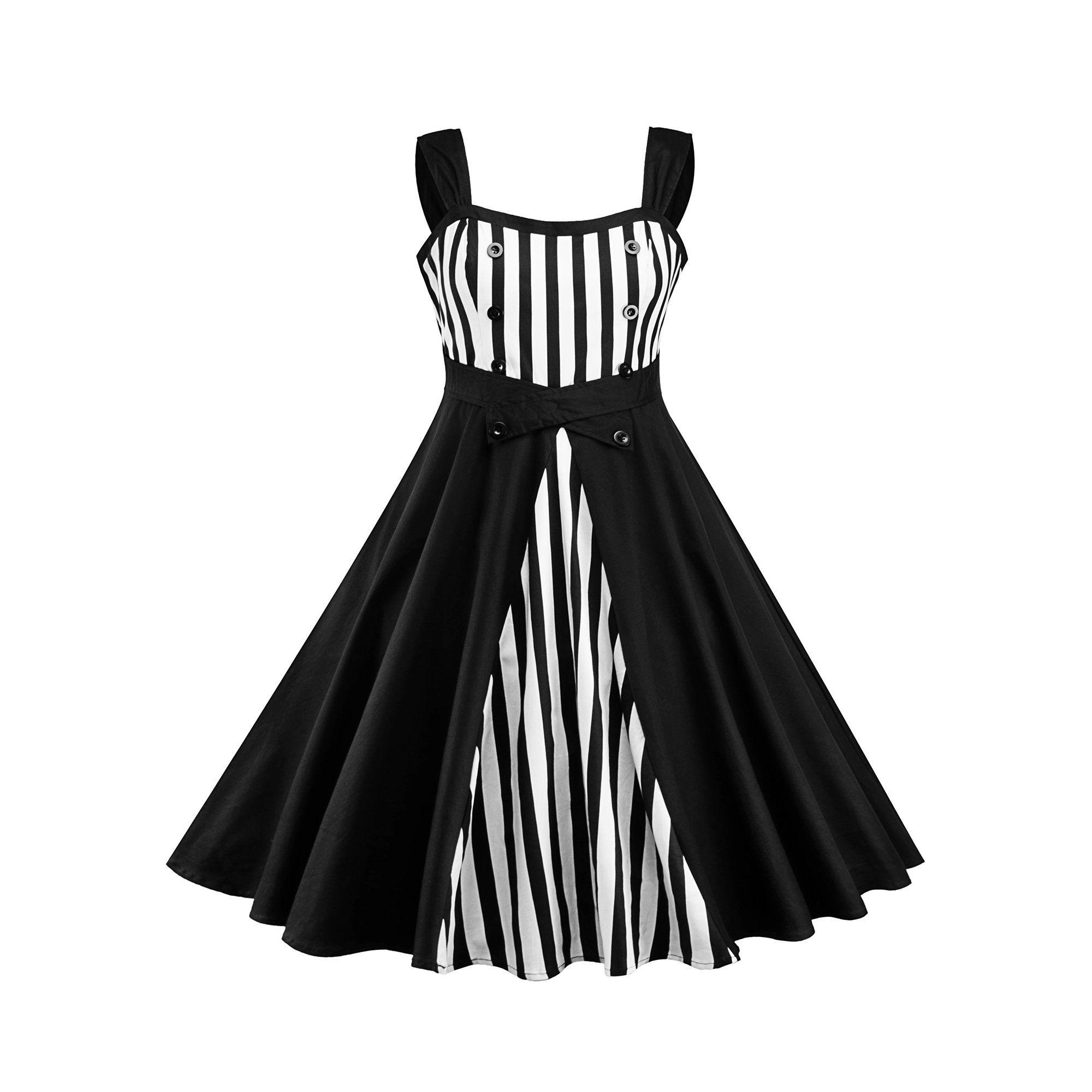 Himone Plus Size 50 S 60 S Rockabilly Dress Vintage Striped Black Swing Pinup Housewife Party Dress Walmart Vintage Dresses Rockabilly Dress Insert Dresses [ 2000 x 2000 Pixel ]