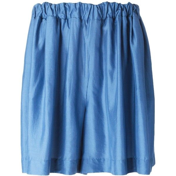 Stella McCartney denim skirt (£155) ❤ liked on Polyvore featuring skirts, mini skirts, blue, blue denim skirt, short denim skirts, stella mccartney skirt, blue mini skirt and short blue skirt
