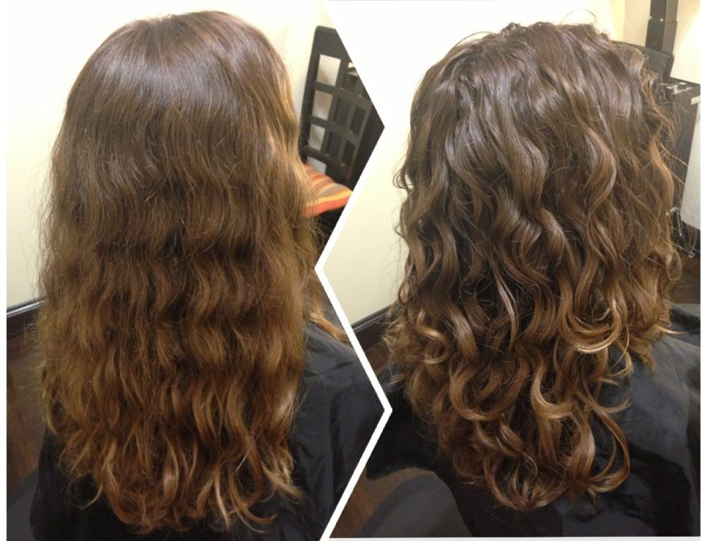 Before After Dry Haircut For Natural Curls Followed By The Deva 3