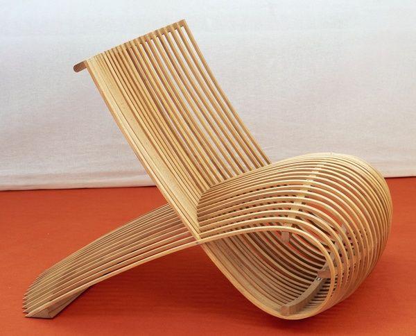 Marc Newson Fauteuil Wooden Chair 1988 Mobilier De Salon Design Fauteuil