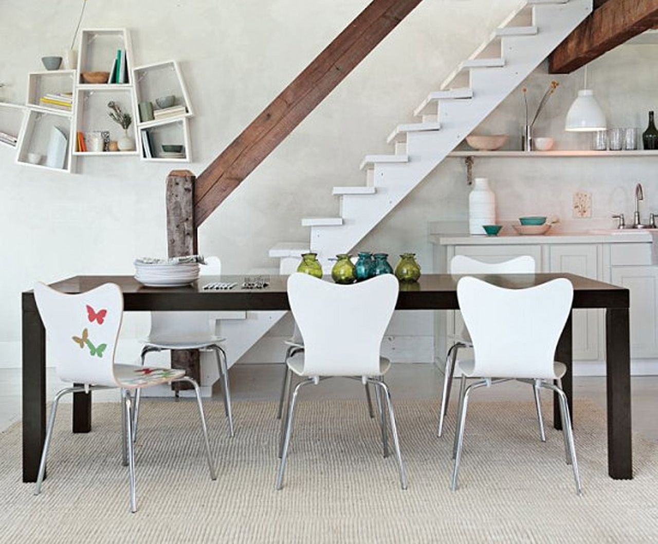 White Plastic Dining Room Chairs
