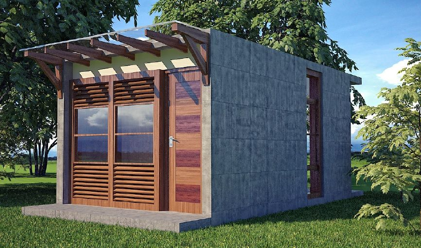 Wafflebox House Storm Resistant Prefab Home 2links Http Buildinghomesandliv Small House Design Philippines House Plans With Pictures Building Plans House