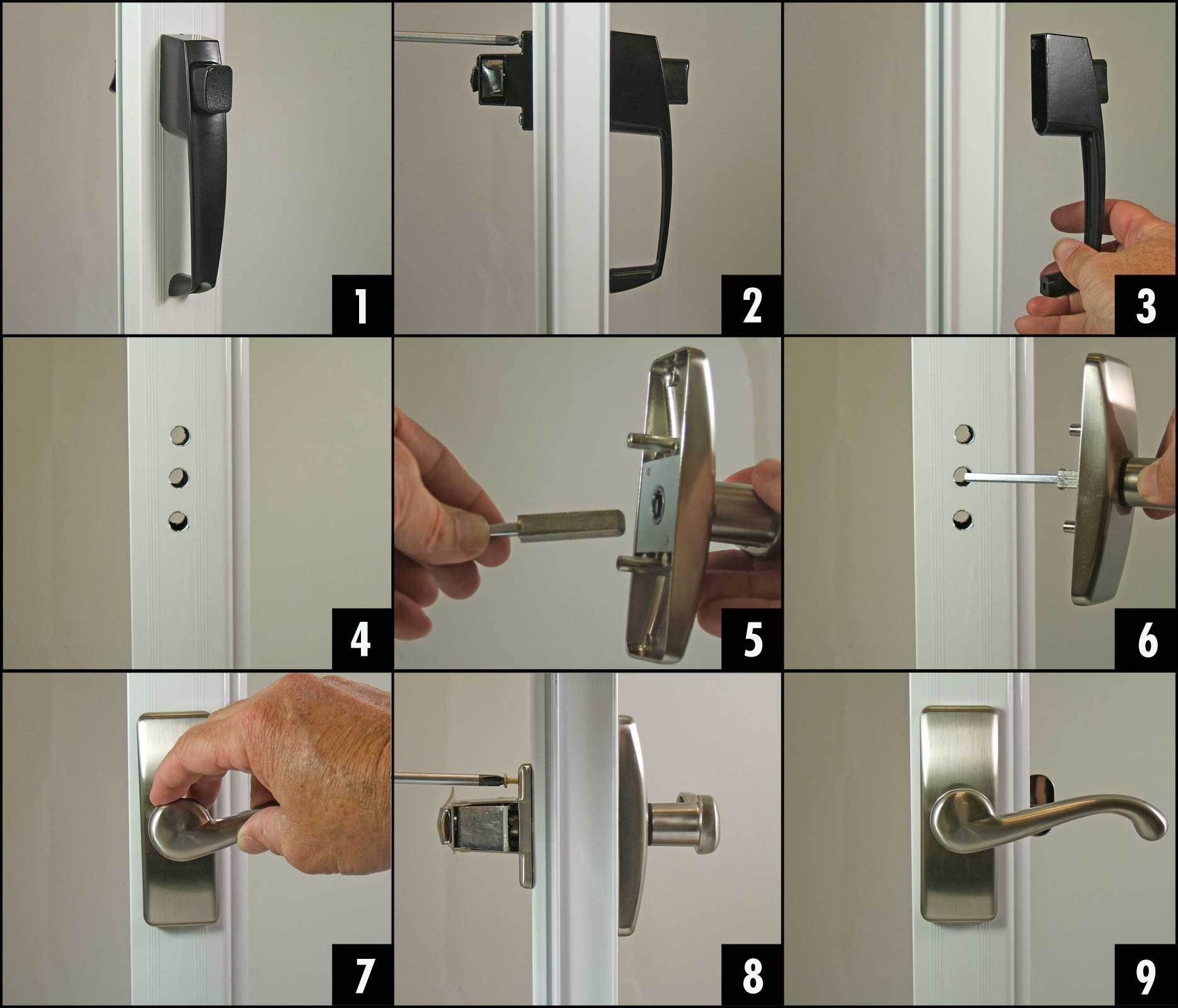 9 Easy Steps   How To Replace A Storm Or Screen Door Handle