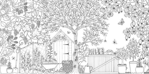 beautiful garden coloring page free printable coloring pages - 1080×709