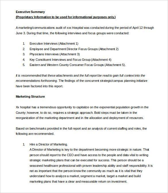 Executive Summary Examples (Dengan Gambar